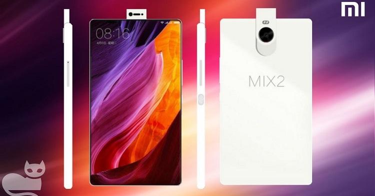 Xiaomi MIX 2 屏占比高达接近100%!双后置镜头,指纹识别依然是放在背部!