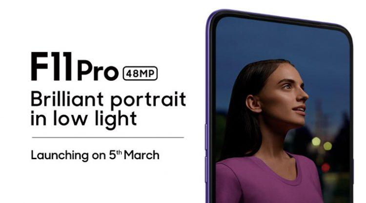 OPPO F11 Pro将搭配90.9%屏占比全面屏!