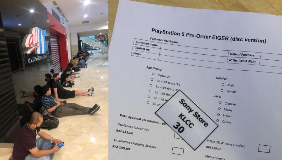 大马PS5开卖日引排队热潮!凌晨3点开始就有玩家排队抢购!