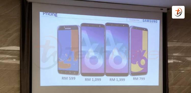 Samsung Galaxy J4、J6、A6、A6+ 新版本售价曝光!价钱从RM599起!