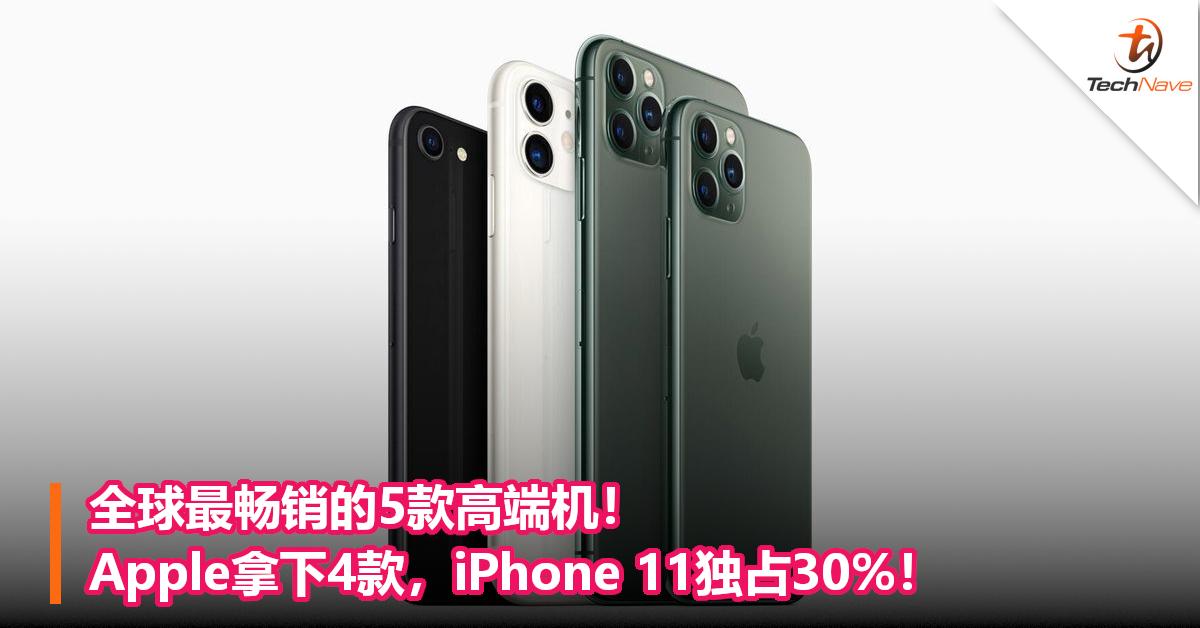 全球最畅销的5款高端机!Apple拿下4款,iPhone 11独占30%!